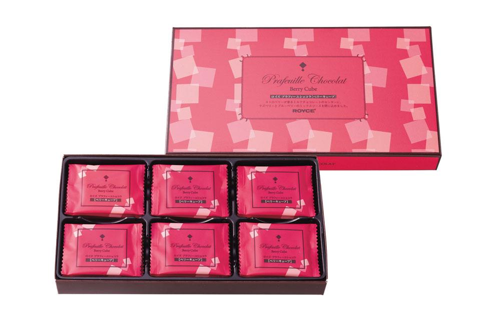 Шоколадные листики «Три ягоды». Prafeuille Chocolat «Berry Cube»